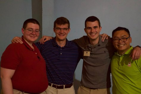 Seminarians, new and old, enjoy some down time at rock'n'bowl!