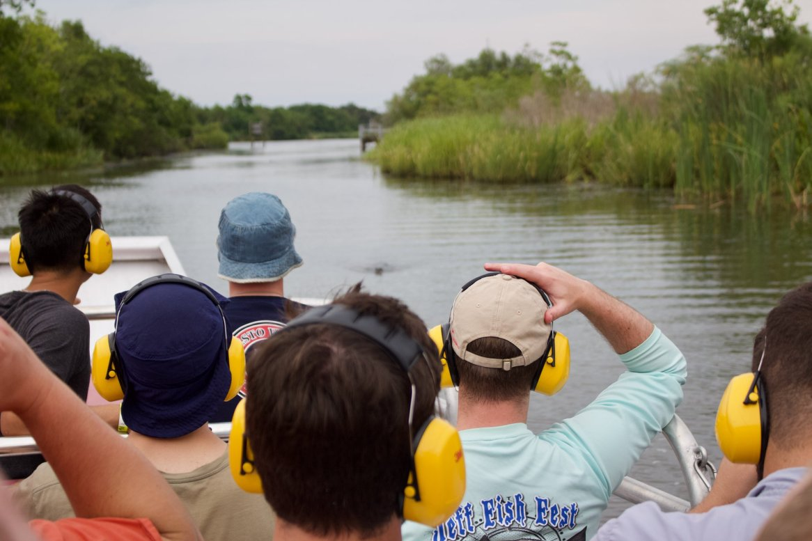 The new seminarians traveled down to Jean Lafitte, Louisiana for a swamp tour.
