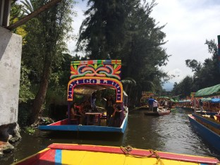 Xochimilco, pt. 1. This is reminiscent of the Aztecs' way of life when Mexico City was their capital.