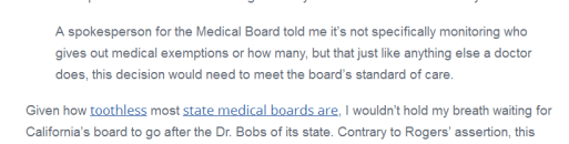 Medical board criticism