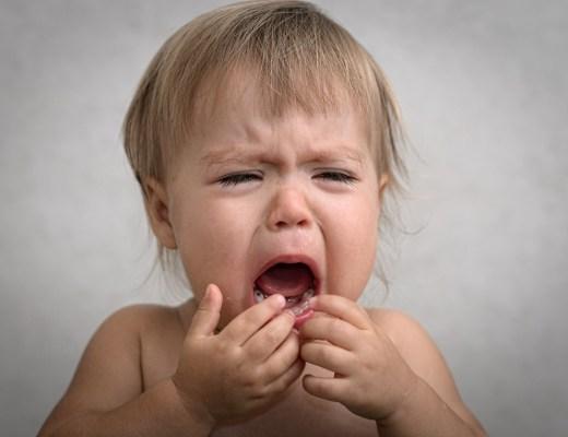 sad crying baby