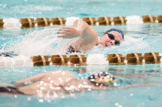 Freshman Elizabeth House competes in the 500 Free.