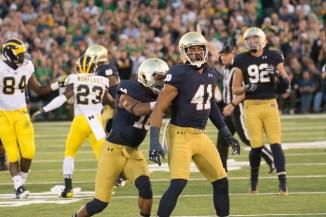 20140906, 2014-2015, 09062014, Amy Ackermann, Football, Michigan vs. Notre Dame, W 31-0