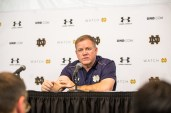 Irish coach Brian Kelly at the post-game press conference. Kevin Song   The Observer.