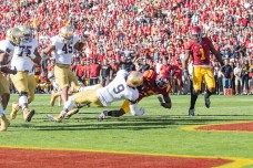Irish sophomore linebacker Jaylon Smith attempts to prevent a touchdown.