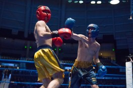 Joe Guilfoile (gold) vs. Pete McGinley (blue). Michael Yu | The Observer