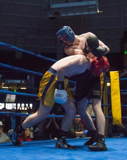 Jack Considine (blue) vs. Pat Gordon (gold). Michael Yu | The Observer