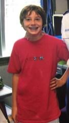 Brian Boylen, Scene Writer and Associate Scene Editor, in 8th grade.