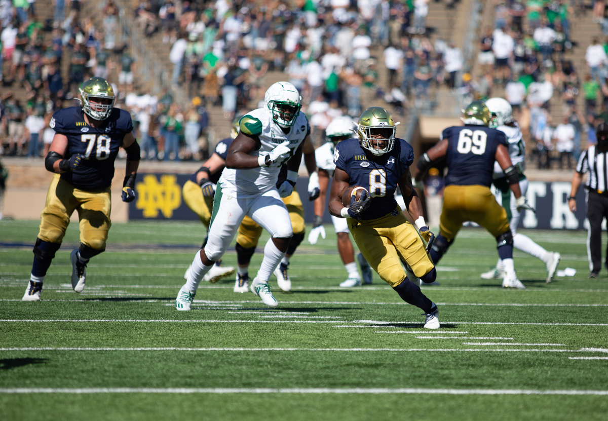 Despite 8 absences, Irish shut out South Florida for 20th-straight home win