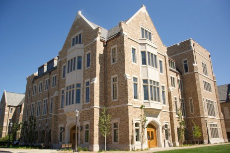 McKenna Hall was built out of brick, slate and cast stone, and has a similar look to other buildings on Notre Dame Avenue.