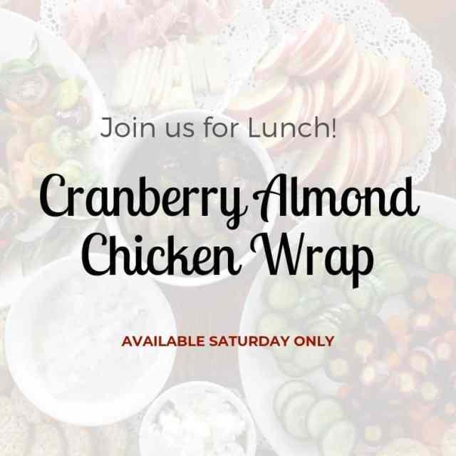 Cranberry Almond Chicken Wrap