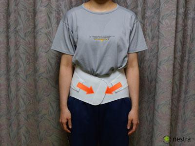 腰痛予防コルセット着け方3