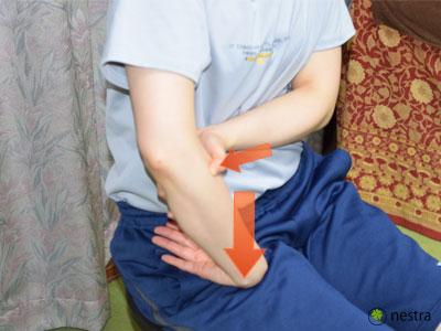 テニス肘治し方コンプレッション2