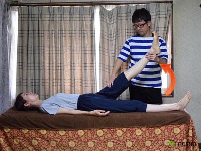 腰の痛みテスト-SLR2