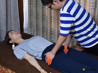 腰の痛みテスト-ニュートン1