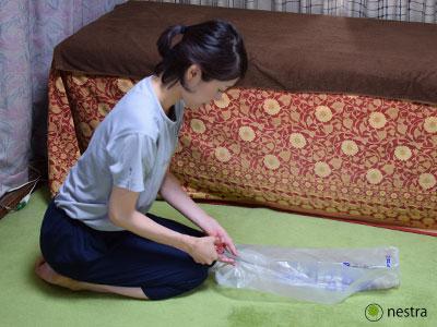 三角巾-巻き方レジ袋3