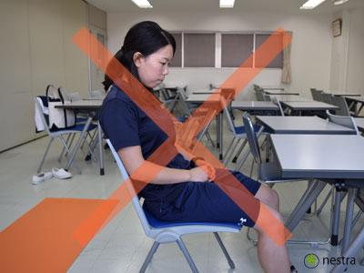 腰が痛い時の座り方1