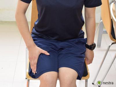 手の腱鞘炎-水掻きストレッチ1