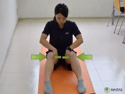 出産後腰痛-骨盤締め込み体操4