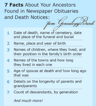 Newspaper Obituaries - Are all the facts accurate?