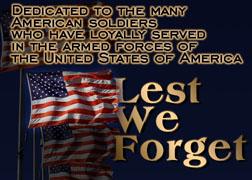 Lest We Forget...