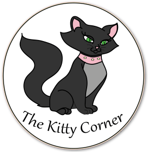 Black cute cat logo