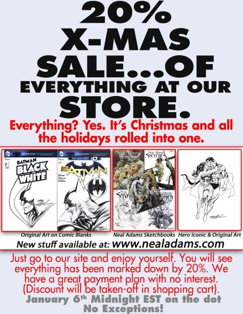 Neal Adams 2013 X-Mas Sale!