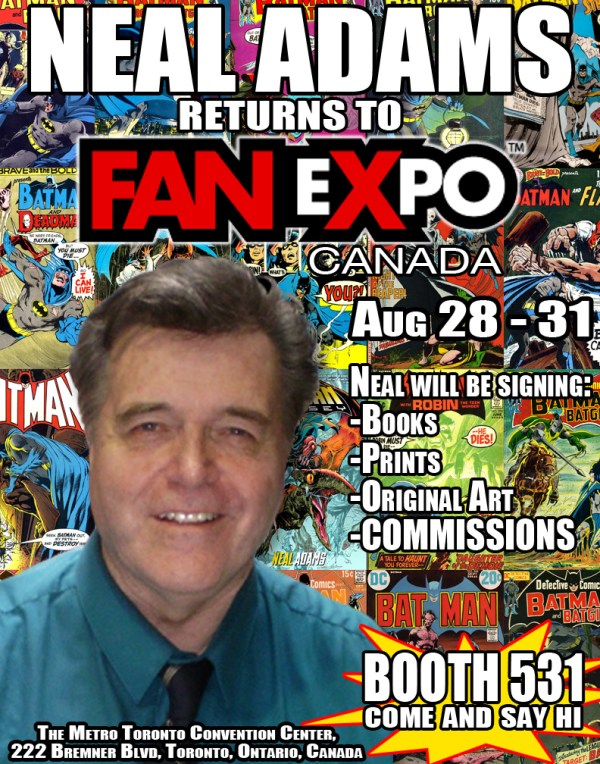 Neal Adams - FanExpo - Canada Aug 2014