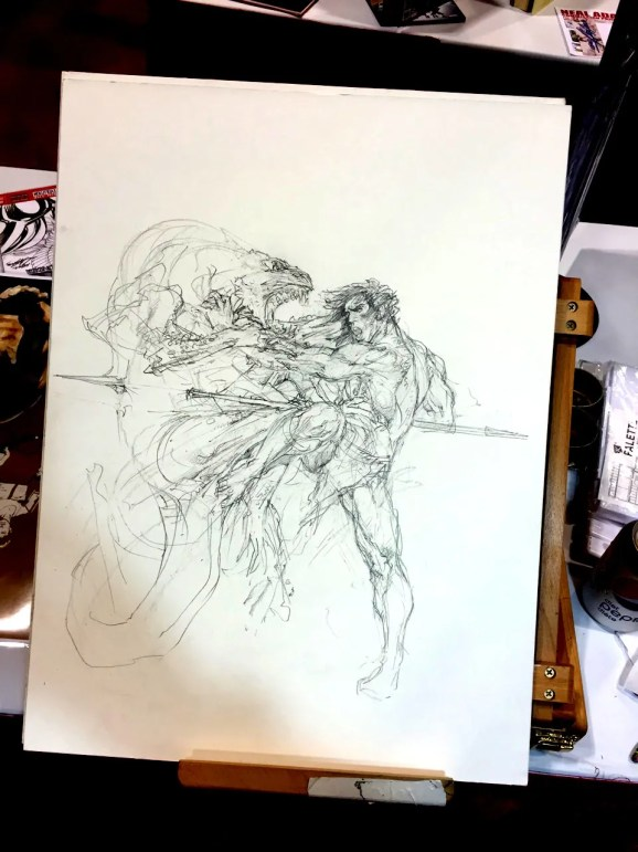 Neal Adams - Savage - Work In Progress