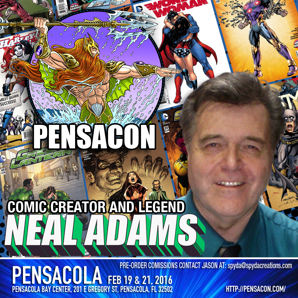 NEal Adams will be signing at Pensacon