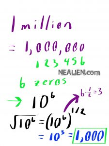 What is the square root of one million?