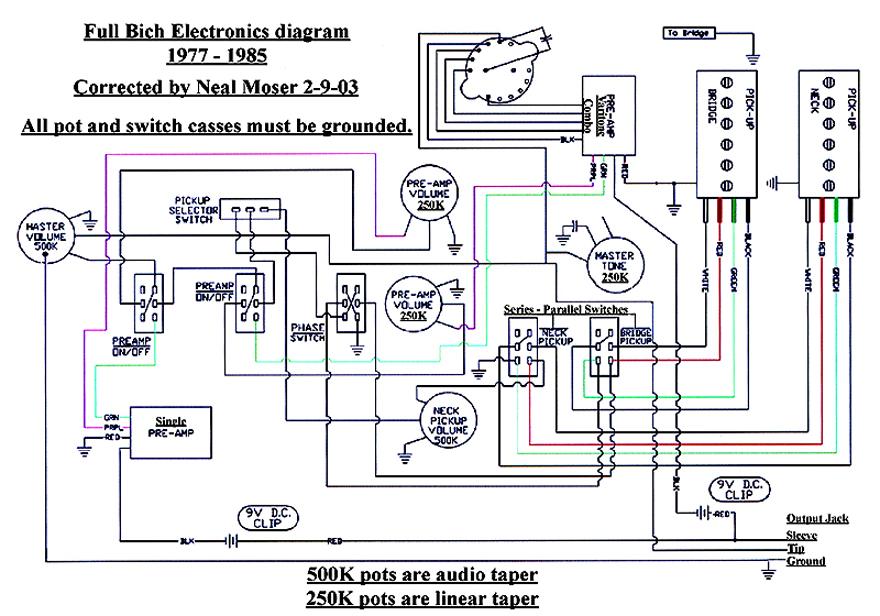 5. Vintage BC Rich Bich Wiring Diagram