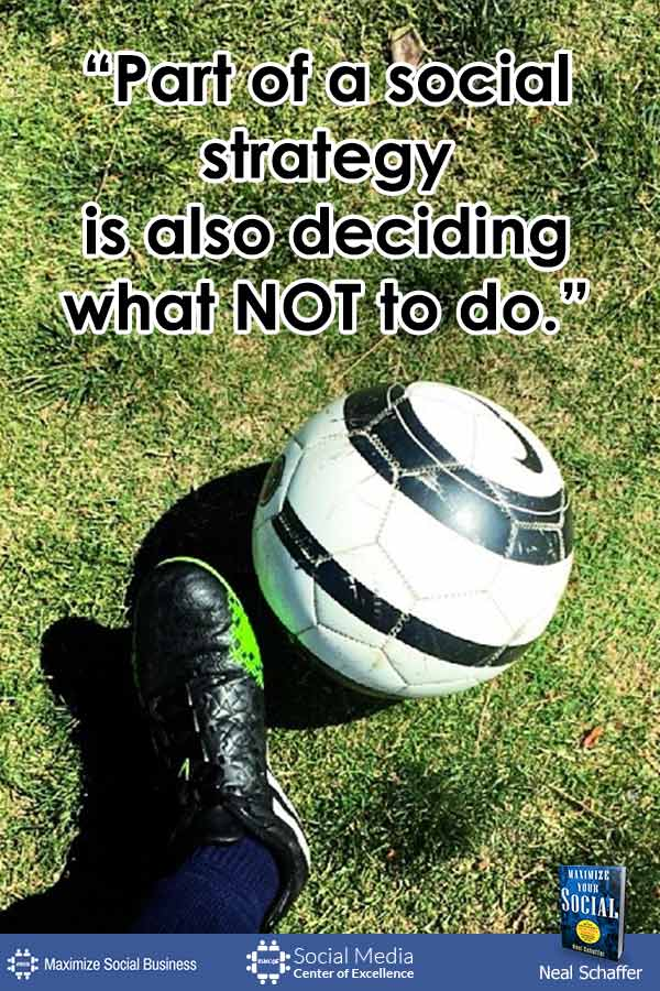 """Part of a Social Strategy is Also Deciding What NOT to Do"" ~ @NealSchaffer #quotes #socialmedia #socialmediaquotes"