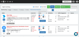 Using NinjaOutreach for blog post analysis