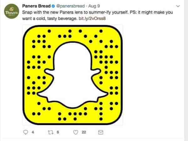 Panera Bread Snapchat