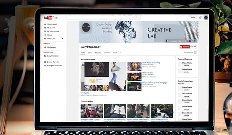 Creative Lab YouTube Channel Art