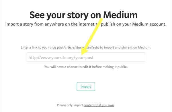 Medium import