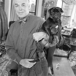 John Guare. 215I-012-013 New York City, NY, USA 1991