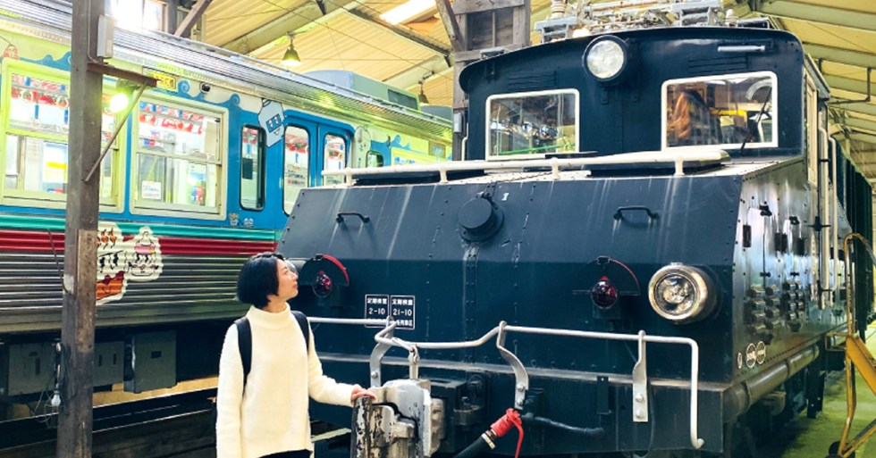 Visiting Ogo Train yard (Jyomo Electric Railsay)