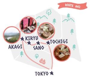 Itinerary from Tokyo (Trip to Tochigi, Sano, Kiryu, Akagi)