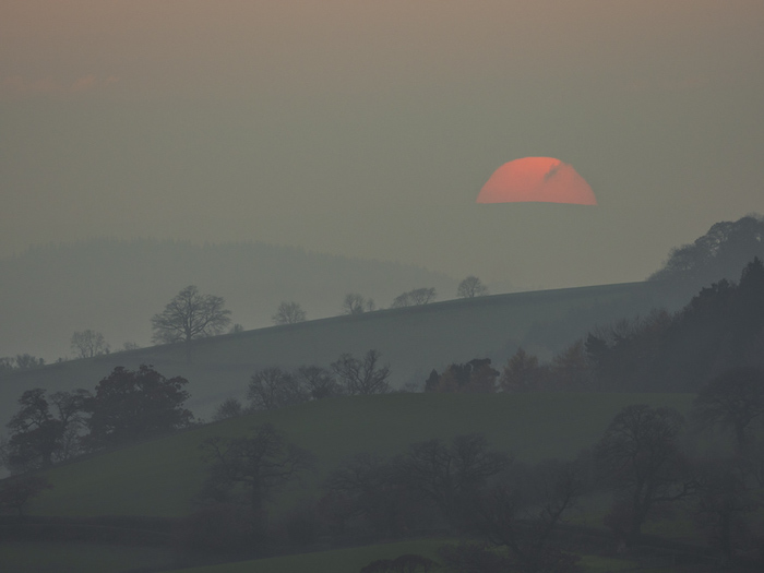Sunset in Shropshire Hills