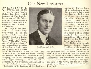 Mr. Cleveland E. Dodge, Treasurer of Near East Relief.