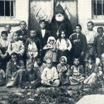 Rescued children with Armenian priest
