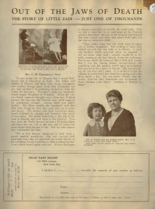 A profile of Zadi and Mrs. Gannaway used by Near East Relief as part of a fundraising campaign.