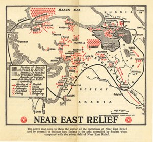 Map of Near East Relief activities in 1921