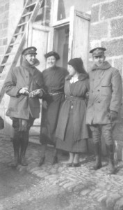 Uniformed relief workers in the Caucasus