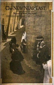 New Near East magazine featuring a view of a street in the Near East. Digitized by Google for the University of Chicago Archives.