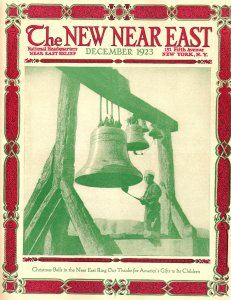 This cover features a stylized photograph of a boy in uniform (probably a Boy Scout) ringing a large bell. December covers often carried a Christian message.