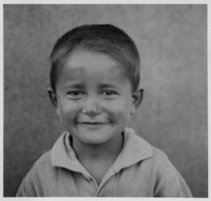 Ioannou Polikhronios, a child at the Syra Orphanage in Greece. The original caption reads