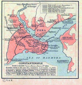Map of Constantinople, 1923